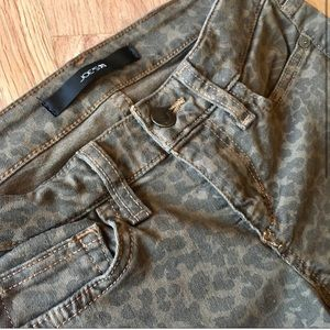 Olive cheetah Joe's Jeans